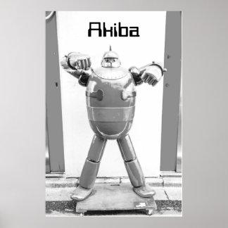 Retro Anime Robot Poster