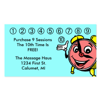 Retro anthropomorphic clock Business Punch Cards Pack Of Standard Business Cards