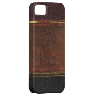 Retro Antique Book, faux leather bound brown Barely There iPhone 5 Case