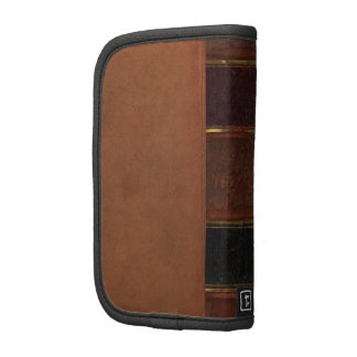 Retro Antique Book, faux leather bound brown Folio Planners
