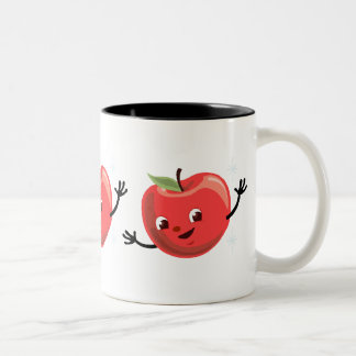 Retro Apple Guy Two-Tone Mug