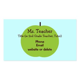 Retro Apple Teacher Business Card