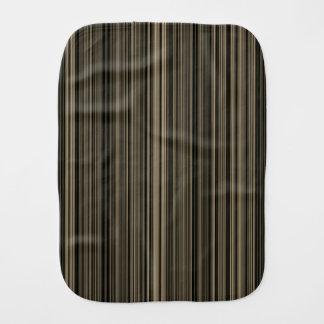 Retro aqua blue brown green stripe burp cloth