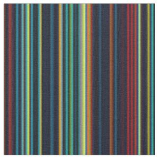Retro aqua blue brown green stripe fabric