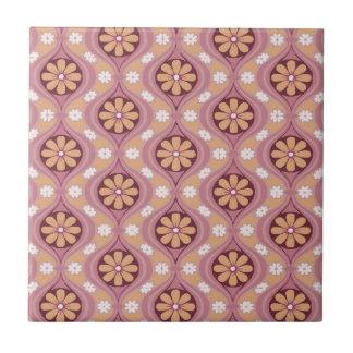 Retro Arabesque Small Square Tile