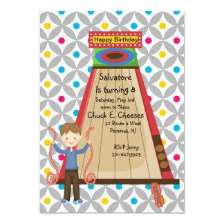 "Retro Arcade Skee Ball Boys Birthday Invitation 5"" X 7"" Invitation Card"