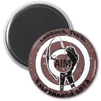 Retro Archer Logo 6 Cm Round Magnet