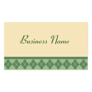 Retro Argyle Business Card