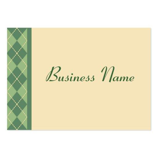 Retro Argyle Business Card