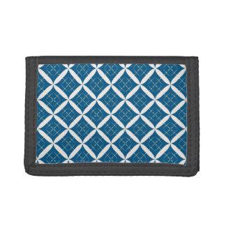 Retro Argyle Diamond wallet