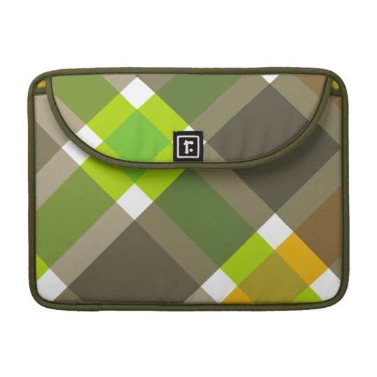 Retro Argyle Laptop Case Sleeve For MacBook Pro