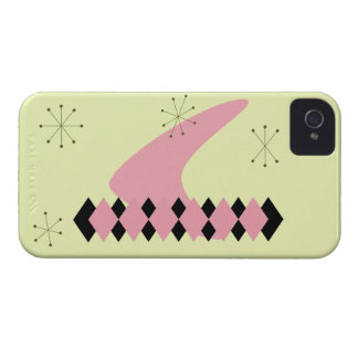 Retro Argyle Mid Century Modern iPhone 4 Case