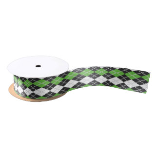 Retro Argyle Ribbon Satin Ribbon