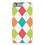 Retro Argyle Trendy Multi Barely There iPhone 6 Case