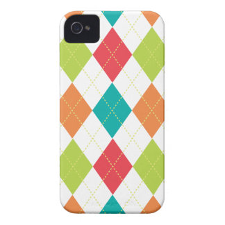 Retro Argyle Trendy Multi iPhone 4 Case