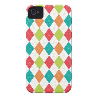 Retro Argyle Trendy Multi iPhone 4 Case-Mate Case