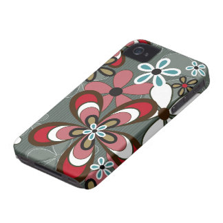 Retro Art Abstract Flower Power iPhone 4 CaseMate iPhone 4 Cases