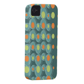 Retro Art Abstract Green Bubbles iPhone 4 CaseMate iPhone 4 Case-Mate Case