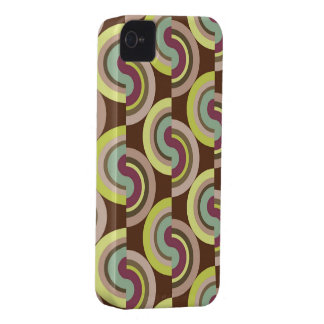 Retro Art Abstract Mod Pattern iPhone 4 CaseMate iPhone 4 Covers