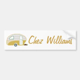 Retro Art Caravan Owner's Bumper Sticker