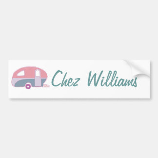 Retro Art Caravan Owner's Bumper Sticker