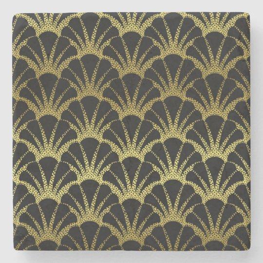 Retro Art Deco Black / Gold Shell Scale