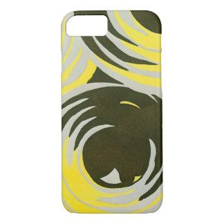 Retro Art Deco Jazz Vintage Circles Swirls Pattern iPhone 8/7 Case
