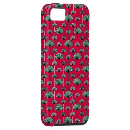 retro art deco pattern vintage iphone 5 case red