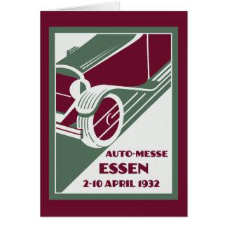 Retro Art Deco style 1930s remake car show Greeting Card