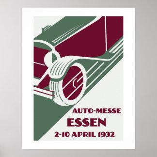 Retro Art Deco style 1930s remake car show Poster