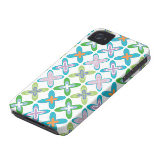 Retro Art Funky Cross Pattern iPhone 4 CaseMate Case-Mate iPhone 4 Cases