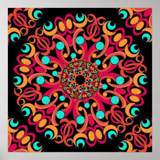 Retro Art Kaleidoscope Poster