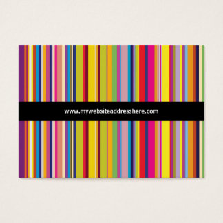 Retro art Striped Chubby Website Business Card