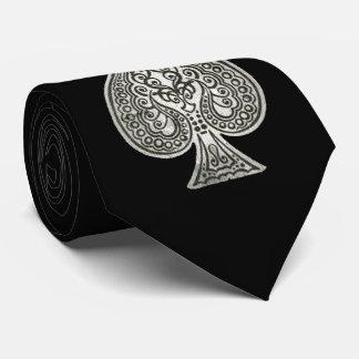 Retro Artistic Poker Ace Of Spades Personalized Tie
