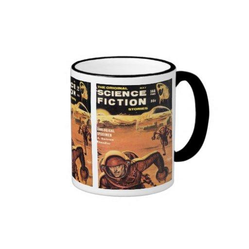 Retro Astronauts in Danger Coffee Mug