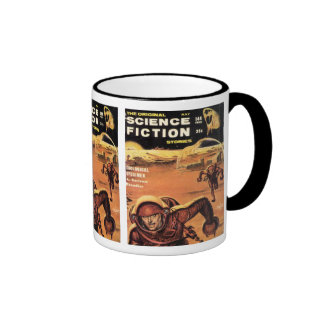 Retro Astronauts in Danger Ringer Mug