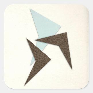 Retro Atomic Boomerang Square Sticker