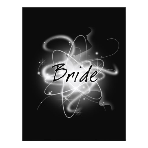 Retro Atomic Bride - Black & White Flyer Design