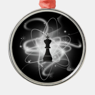 Retro Atomic Chess Piece - King Christmas Ornament