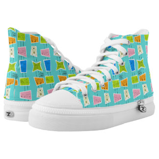 Retro Atomic Kitsch High Top Shoes