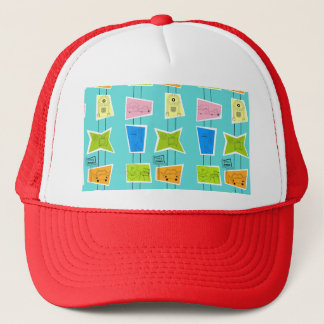 Retro Atomic Kitsch Trucker Hat