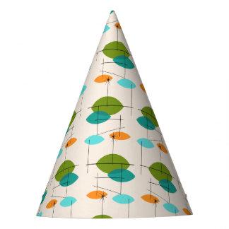 Retro Atomic Mobile Pattern Party Hat