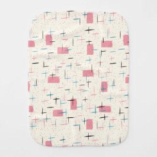 Retro Atomic Pink Pattern Burp Cloth