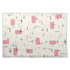 Retro Atomic Pink Pattern Cloth Placemat
