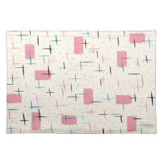 Retro Atomic Pink Pattern Cloth Placemat