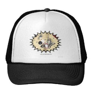 Retro Atomic Print 50s Bowling Apparel & Gifts Trucker Hats