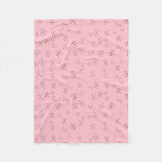 Retro Atoms Fleece Blanket