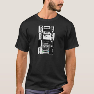 Retro audio cassette group b&w T-Shirt