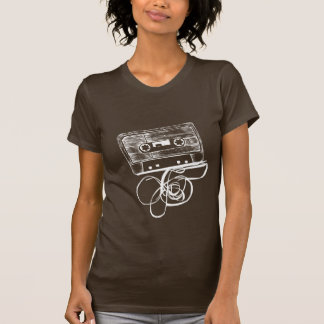 Retro Audio Cassette T-shirt - Black