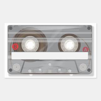 Retro Audio Cassette Tape Rectangular Stickers